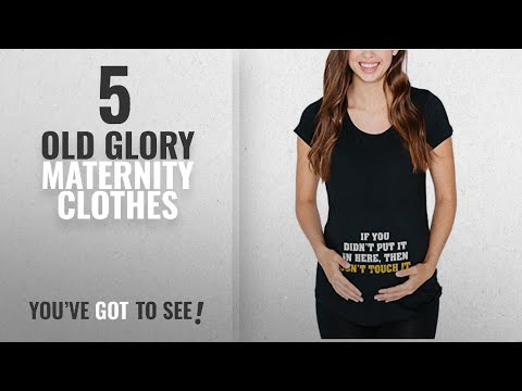 Old Glory Maternity Clothes [2018]: Don't Touch It Black Maternity Soft T-Shirt - X-Large