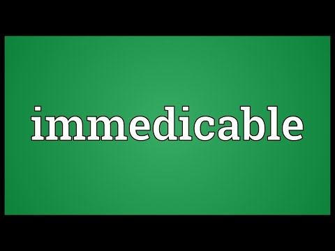Header of immedicable