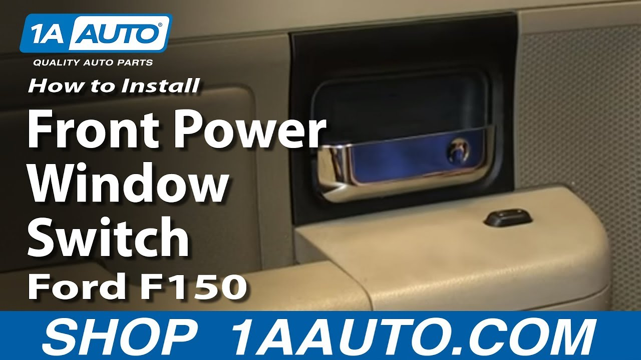 How to install replace rear and pass front power window switch 2004 08 ford f150 youtube