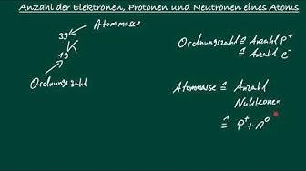 Anzahl Elektronen, Protonen und Neutronen