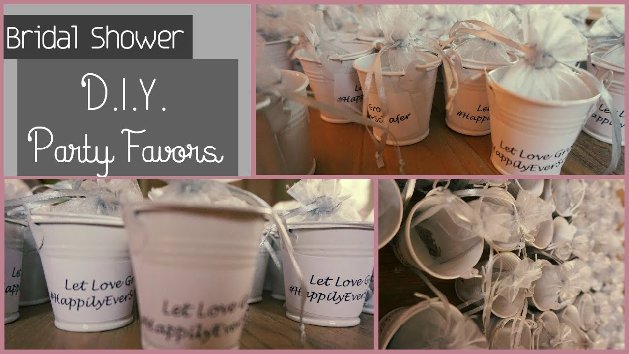 Diy Bridal Shower Baby Shower Party Favors Let Love Grow Youtube