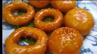 Bánh cam Bánh còng, Cách làm bánh ngon và chiên không bị bắn dầu || Natha Food