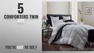 Top 10 ComfortersTwin Size [2018]: Egyptian Bedding LUXURIOUS 1200 Thread Count GOOSE DOWN
