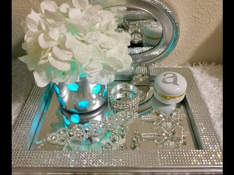 silver-vanity-tray-with-rhinestones-diy