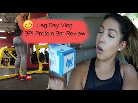 leg-day-vlog-|-bpi-protein-bar-review