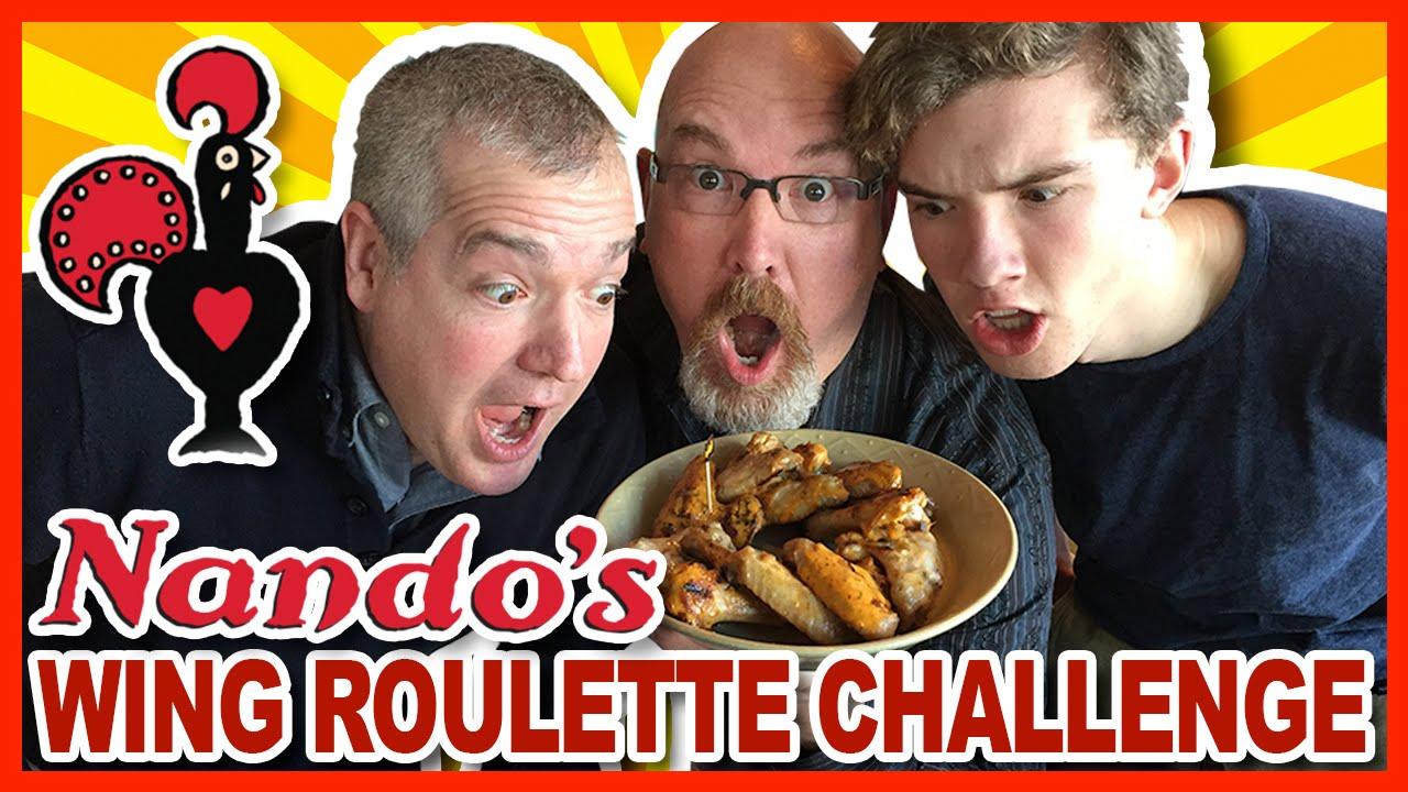 ♥ Nando's ♥ Wing Roulette Challenge - Paul vs. Ben vs. Ken