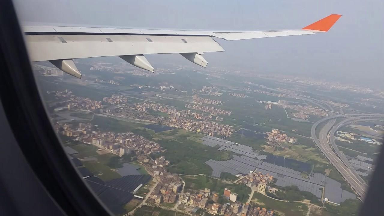 Aeroporto Guangzhou Arrive : Landing at guangzhou airport china . youtube