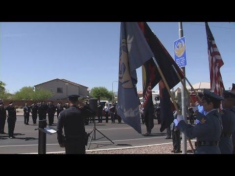Phoenix PD unveils historic marker to honor fallen Officer David Glasser