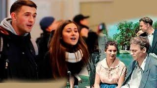 Красиво до слез:  Флеш моб на вокзале в Запорожье. Весна на Заречной улице