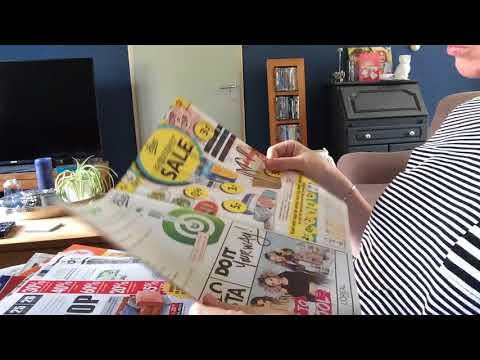 ASMR page turning weekly ads and local newspaper