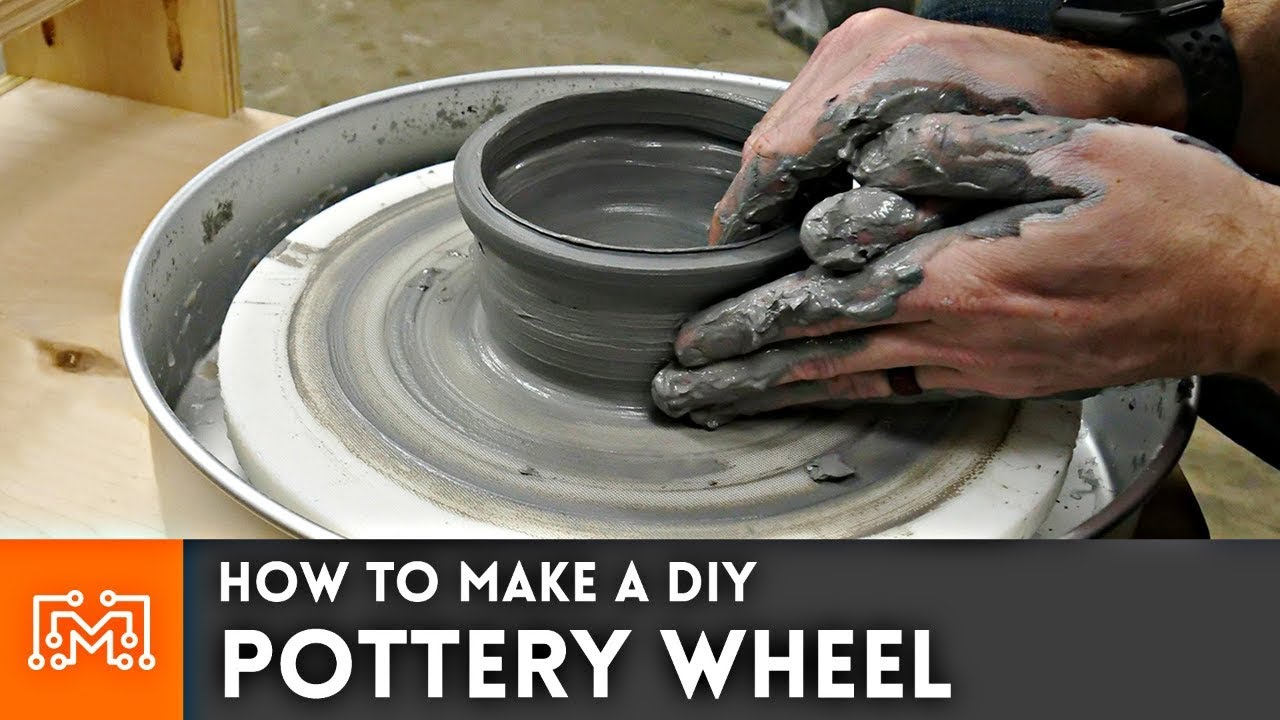How To Make A Diy Pottery Wheel Youtube
