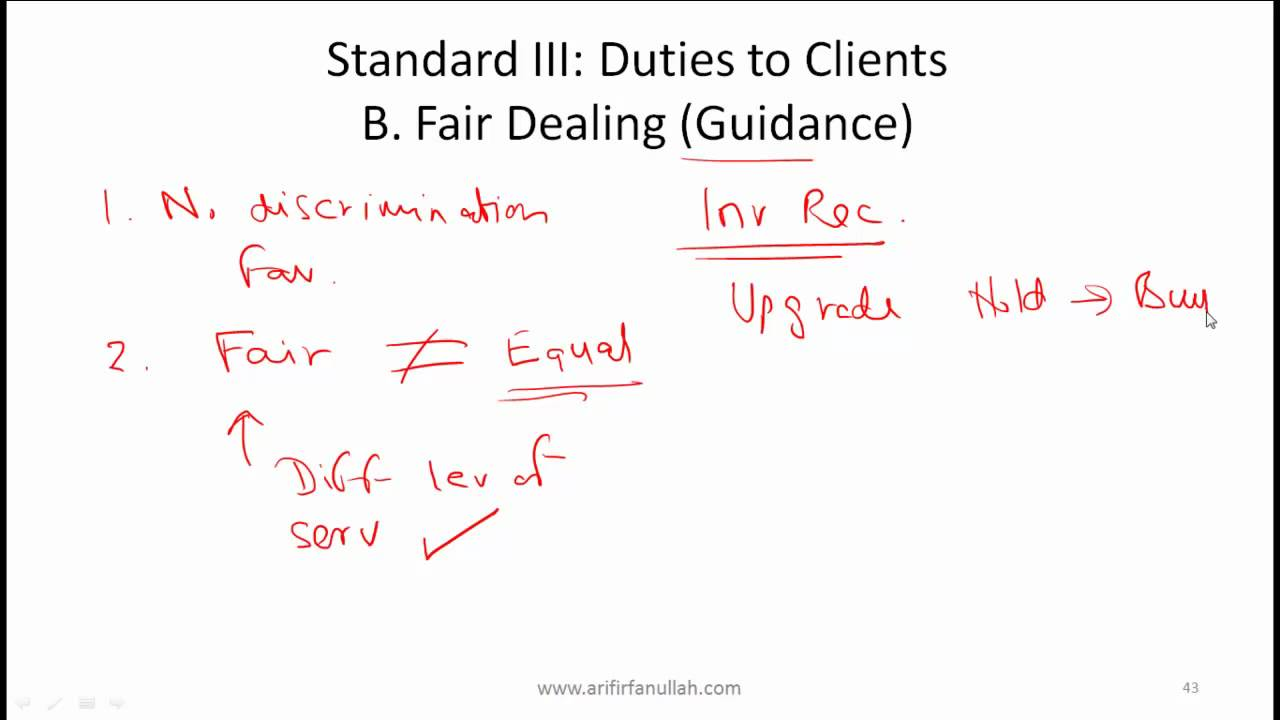 CFA Level I Ethics Standard 3 (Duties to Clients) Video Lecture by Mr  Arif  Irfanullah