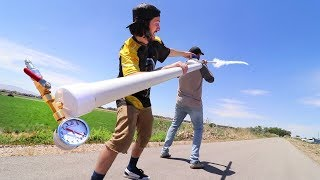 2 Person Homemade Rocket Launcher!! **SUPER LONG**
