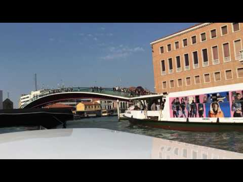 Venice Italy - Water Taxi from Airport to Hotel Mercurio