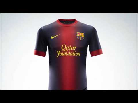 5e40f1cc2ce66 Nova Camisa Do Barcelona Temporada 2012 2013 - YouTube