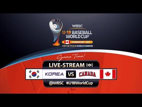 Korea v Canada - WBSC U-18 Baseball World Cup 2017