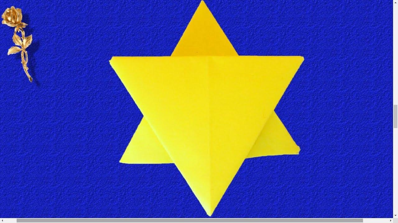Extrêmement Origami : 💥 Étoile de David, Seau de Salomon, Hexagramme magique  DG84