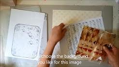 transparent magazine image transfer; decorating a box, tutorial