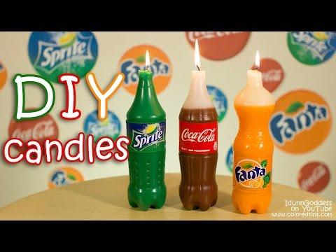 How To Make Coca-Cola, Fanta and Sprite Candles DIY