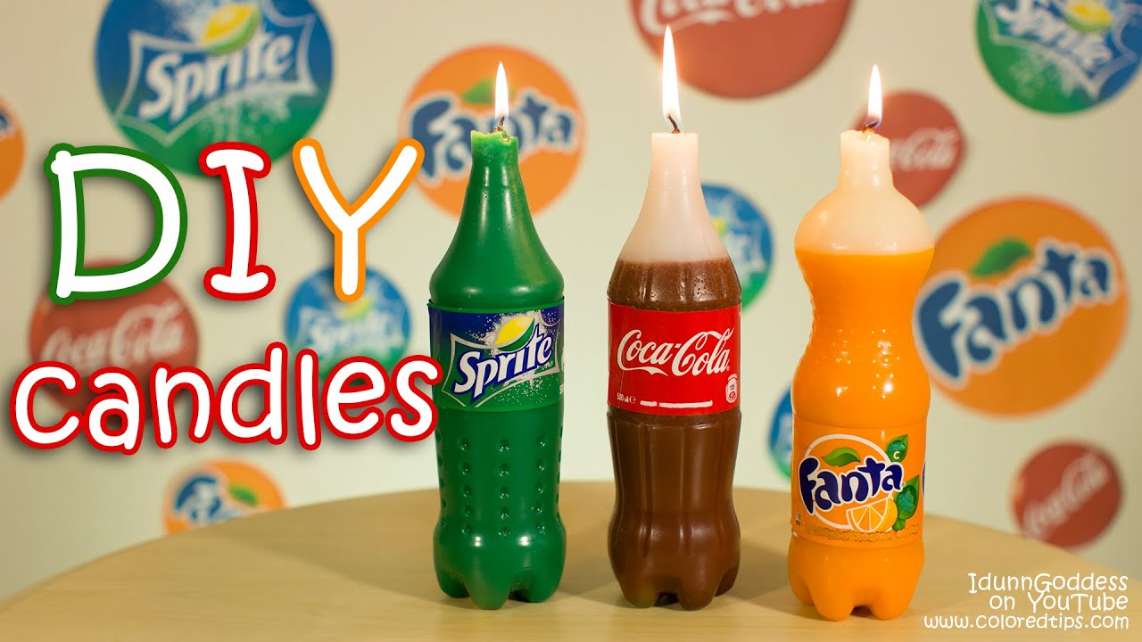How To Make Coca Cola Fanta And Sprite Candles Diy Youtube