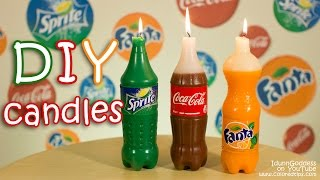 How To Make Coca-Cola, Fanta and Sprite Candles DIY