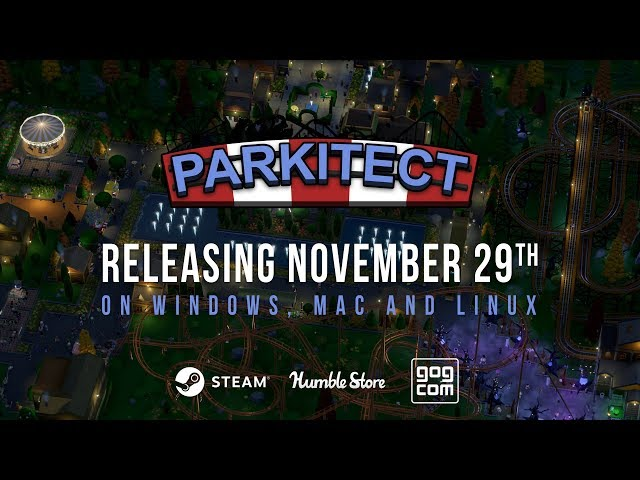 Parkitect launches on November 29th!