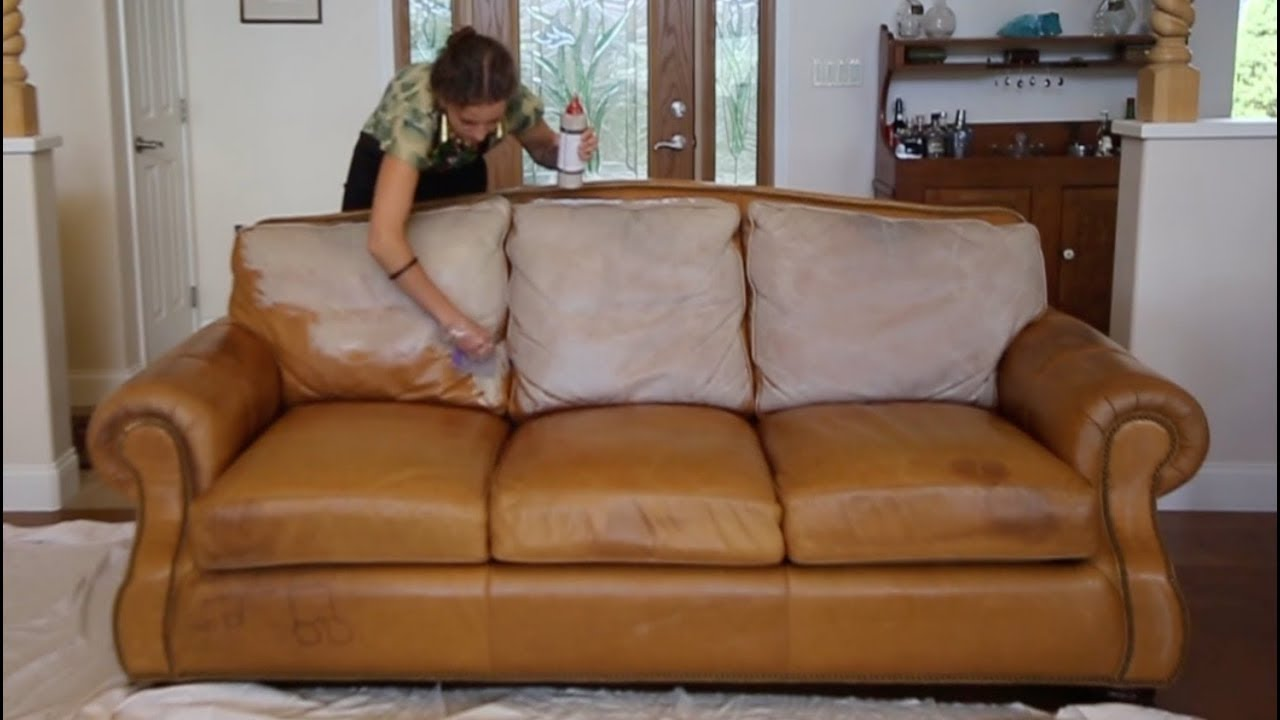 restoring leather sofa camden restore couch with conditioning stain youtube