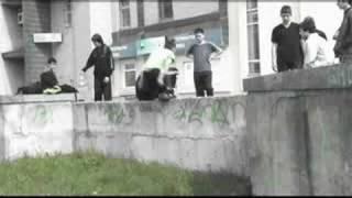 Street acro in Cherkasy (Ukraine)