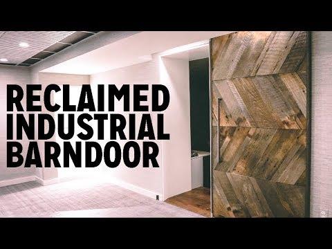 DIY Reclaimed Industrial Barn Door