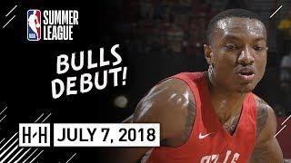 Wendell Carter Jr Full Bulls Debut Highlights vs Cavaliers (2018.07.07) Summer League - 16 Pts