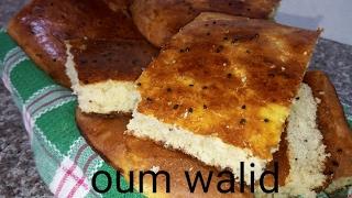 مطبخ ام وليد خبز الدار بالسميد بدون عجن