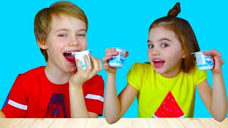 Fingers Family Kid Song Colorful Yogurt by Nick and Poli | 동요와 아이 노래 | 어린이 교육