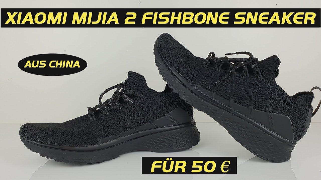 Xiaomi Mijia 2 Fishbone Bewertung auf deutsch Sneaker Sportschuhe aus China für ca. 50 €