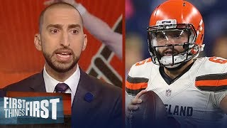 Nick Wright and Cris Carter evaluate Baker Mayfield's preseason | NFL | FIRST THINGS FIRST