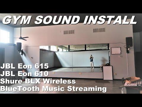 Gym sound system Install (JBL Eon 615 + 610) | Bluetooth wireless solution