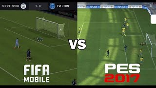 Fifa 17 Mobile vs PES 17 Mobile (Gameplay)