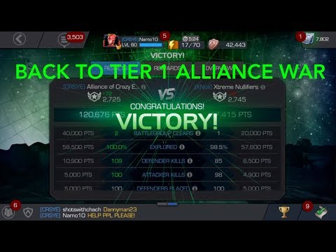 Tier 1 Alliance Wars - Boss fight - Mini Boss fight - the whole run