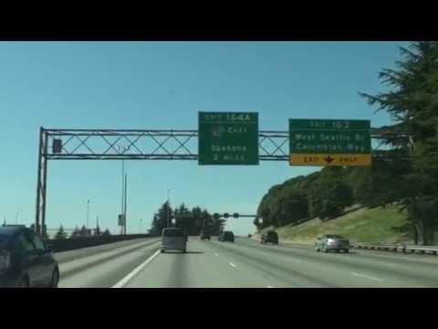 Interstate 5 In Washington,Seattle,Exit 161 To Exit 162, WA 98108