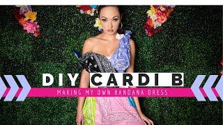 Cardi B Outfit DIY – Making Her Bandana Dress