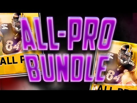 Madden Mobile 17 All-Pro Bundle! 13 All Pro Packs and a Legend Pack Topper!