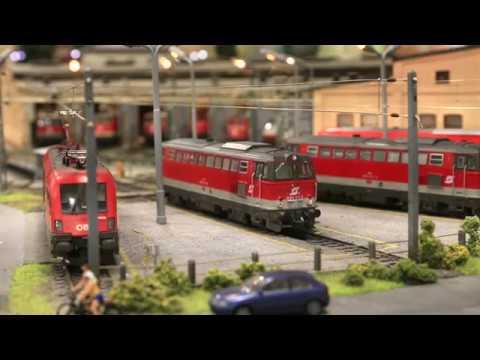 Fahrverschub nach Neuberg auf der Modelleisenbahn des ESV Knittelfeld (Ganz nahe am Original) Teil1