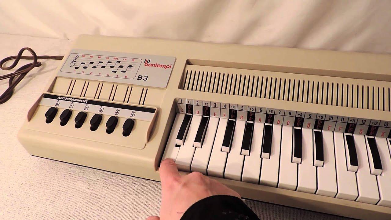 bontempi b organ made in italy  youtube - bontempi b organ made in italy