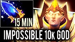 WTF 15 min Scepter Impossible Godlike Invoker Boss by Abed ► God Mode ON! 10k MMR Dota 2