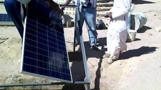 تركيب الواح طاقة شمسية لتوليد 3كياو كهرباء تكفى لأنارة منزل كبير وحظيرة مواشى