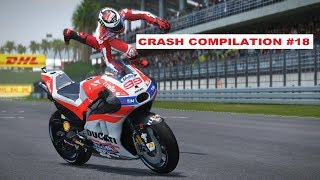 MotoGP 17 | Crash Compilation #18 | PC GAMEPLAY | TV REPLAY at SEPANG