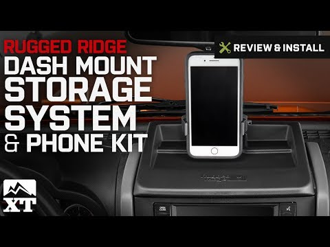 Jeep Wrangler Rugged Ridge Dash Mount Storage System & Phone Kit (2007-2010 JK) Review & Install