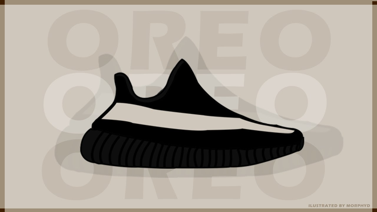 3c2d58bccf1ea Yeezy Boost 350 v2  Oreo  Illustration - Photoshop - YouTube