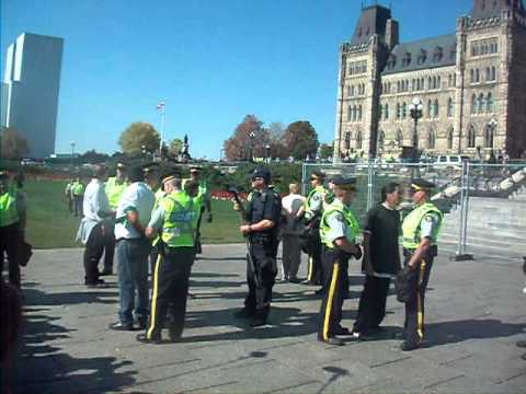 TAR SANDS ACTION OTTAWA Sept 26 - first wave of citizens being arrested