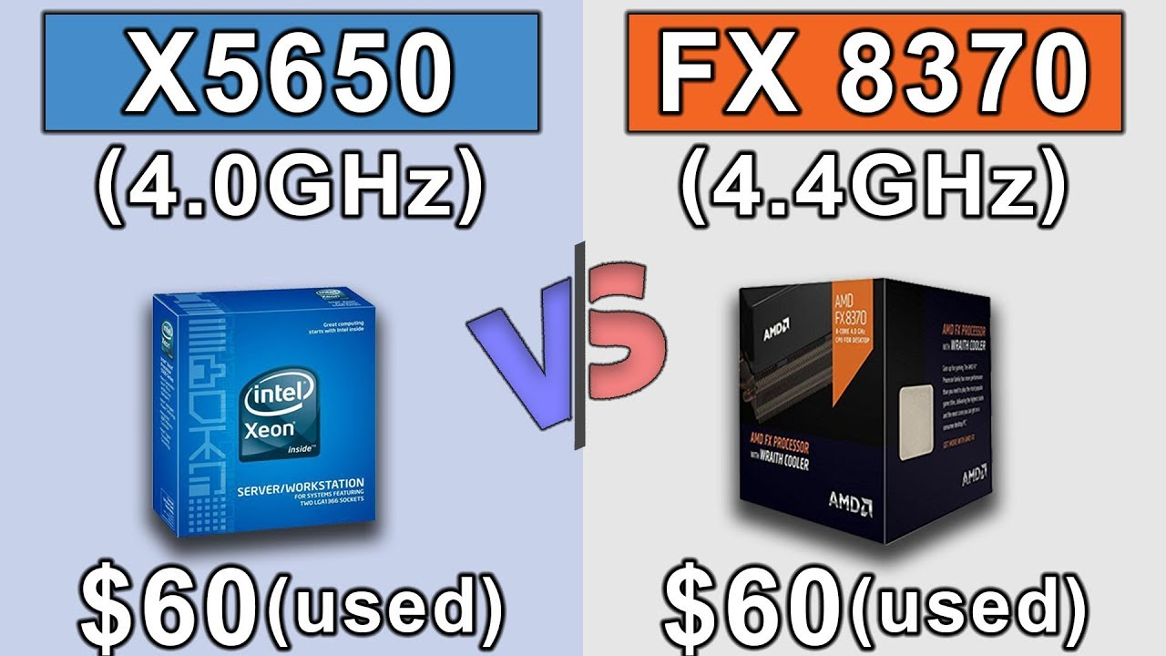 Xeon X5650 (4 0GHz) OC vs FX 8370 (4 4GHz) OC   GTX 1060 6GB   New Games  Benchmarks