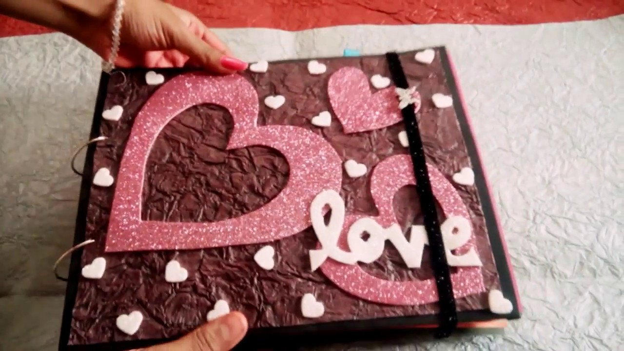 Lovely Handmade Scrapbook Greeting Card For Someone Special